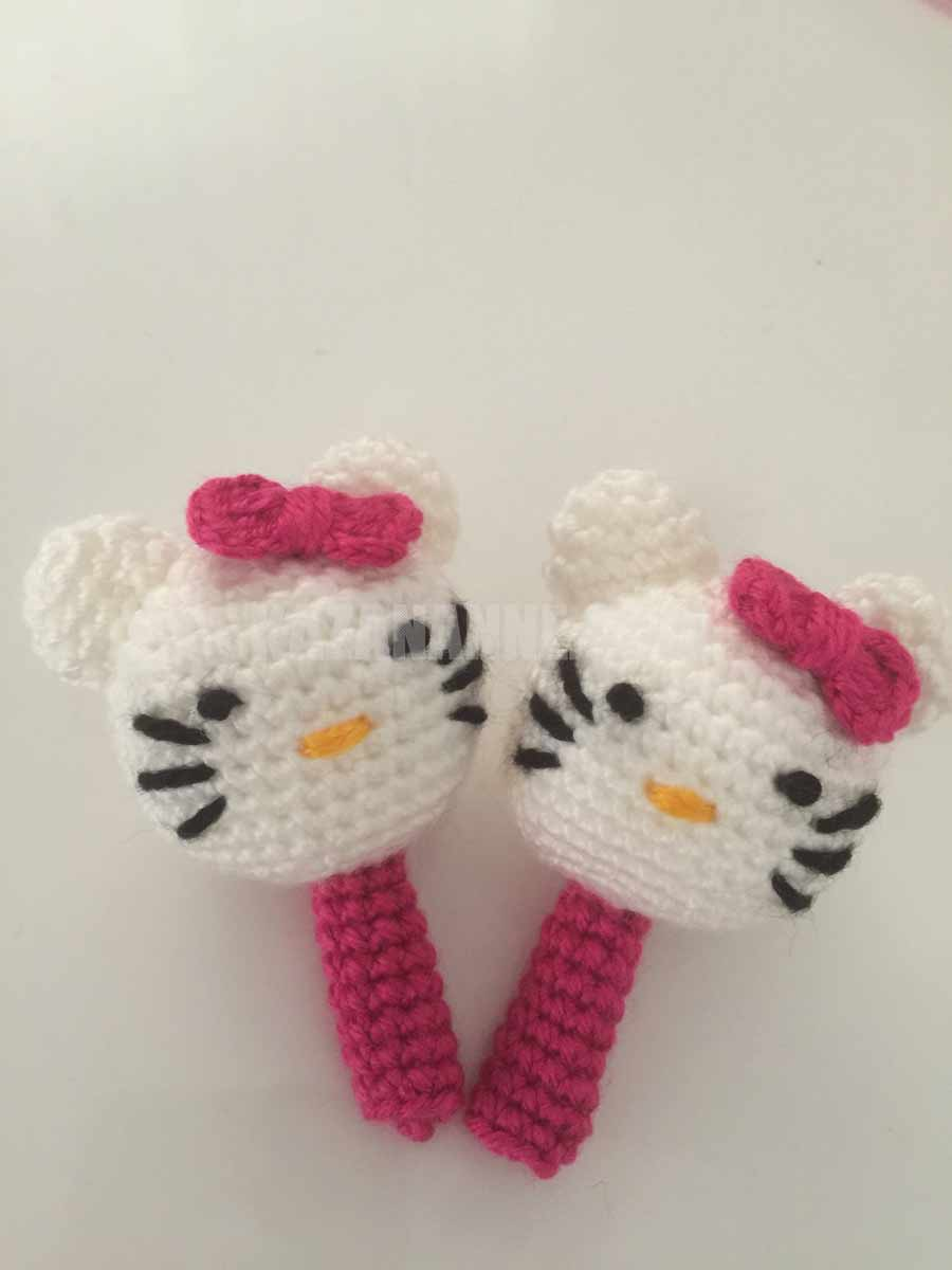 Amigurumi Hello Kitty kalem süsü