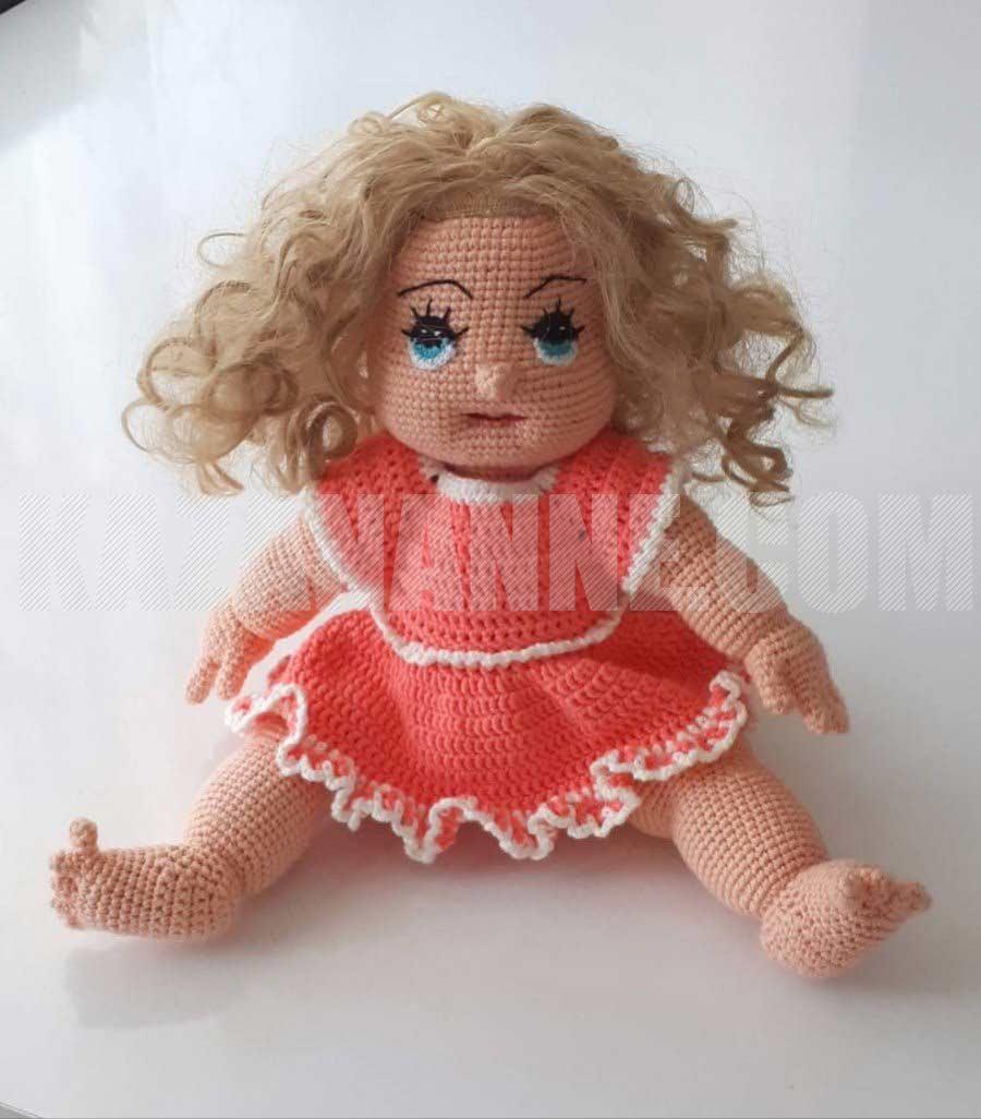 Rüya Bebek Amigurumi Organik Oyuncak Turuncu Saçlı Oyuncak Bebek ... | 1026x900